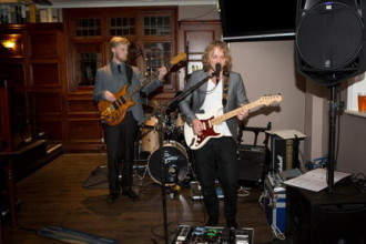 Pete Thomas and Tom Michell at the Victoria, Henley