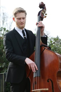 Pete Thomas with his double bass