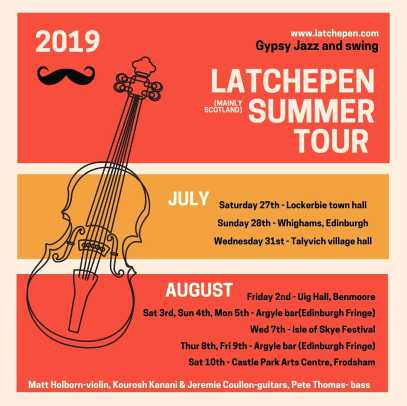 Latchepen gypsy jazz & swing summer tour 2019