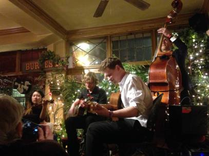 Gypsy swing quartet Swing Fromage's debut at Le QuecumBar